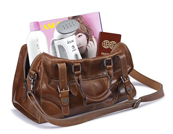 TS01 gray travel hand held steamer fits in your handbag