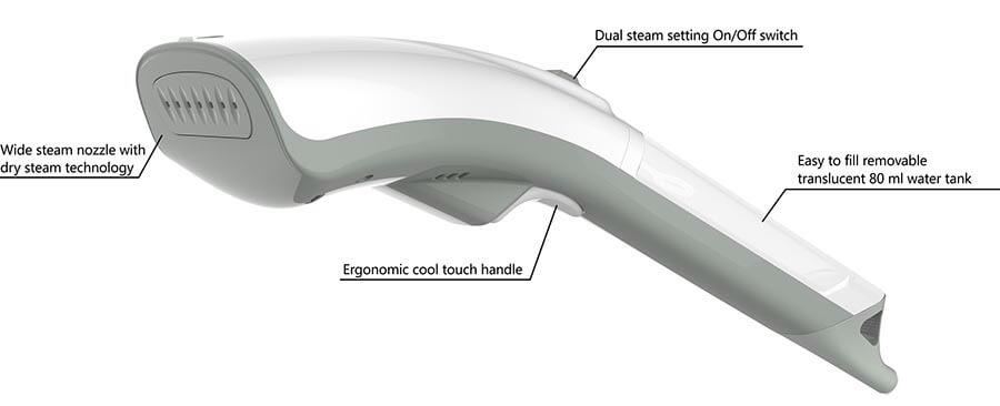 HS04T ergonomic hand steamer