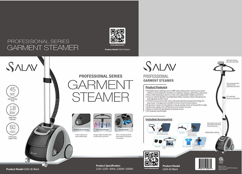 GS65 BJ Black 360 professional upright clothes steamer Pkg FINAL crop