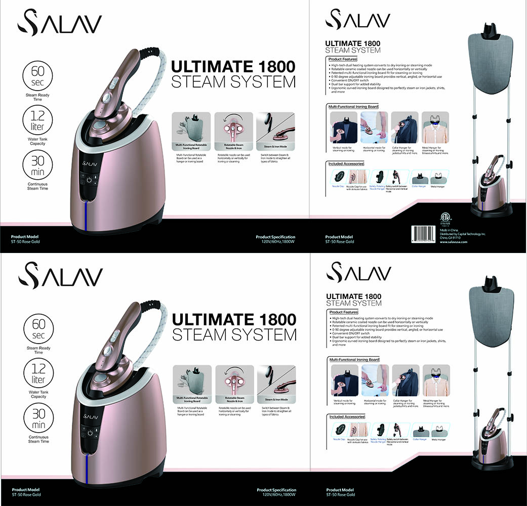 Steamer and Iron in 1 Ultimate 1800 ST-50 3 in 1