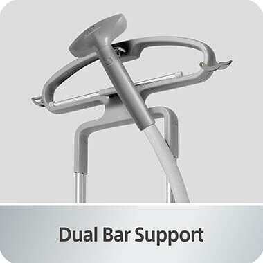 GS42-DJ_Blue_Dual_Bar_Support clothing steamer