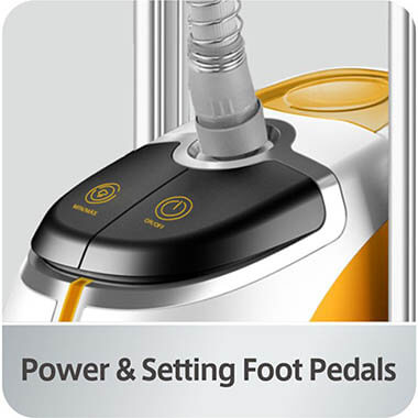 GS45-DJ_orange_foot_pedals clothing steamer
